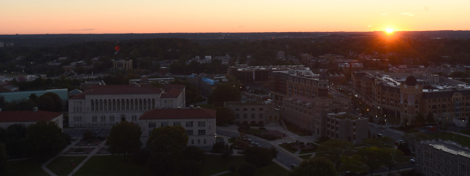 sunrise at Catholic University