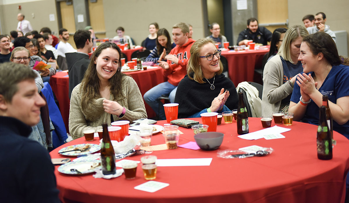 Students at CUA on Tap